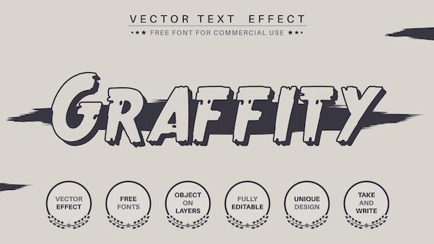Efeito de texto editável graffity sexta-feira