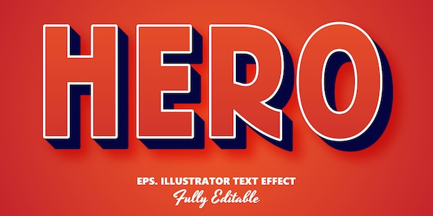 Efeito de texto editável hero