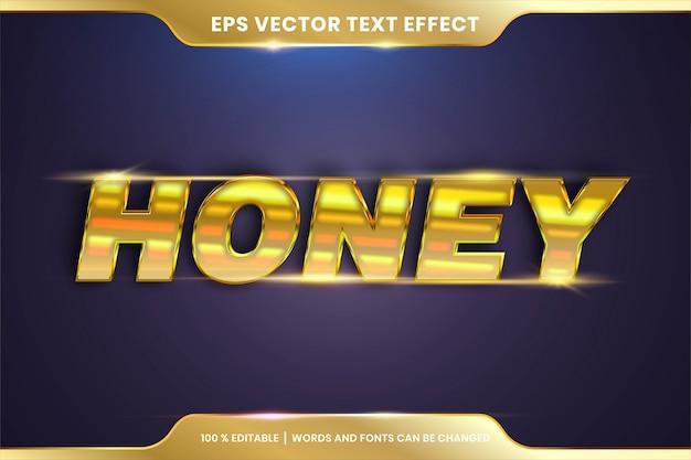 Efeito de texto editável honey gold