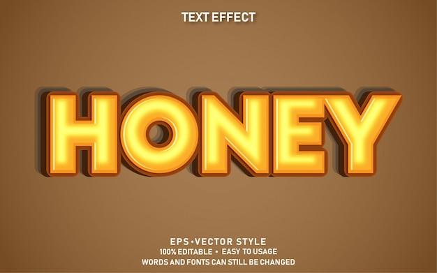 Efeito de texto editável honey