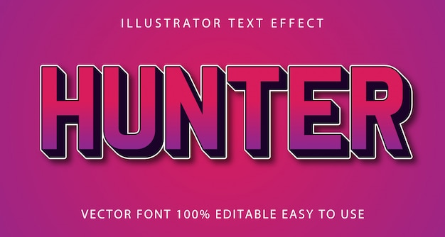 Efeito de texto editável hunter