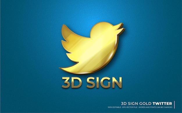 Efeito de texto editável, ícone de assinatura de ilustrações do estilo do twitter