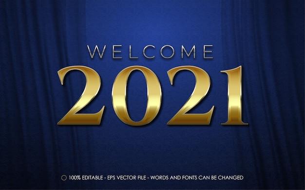 Efeito de texto editável, ilustrações de boas-vindas do ano novo