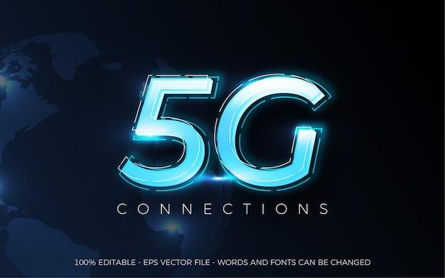 Efeito de texto editável, ilustrações de estilo 5g connections