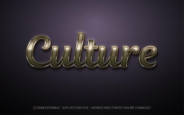 Efeito de texto editável, ilustrações de estilo cultural