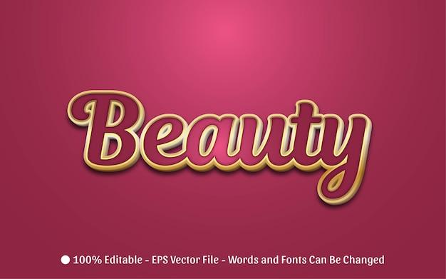 Efeito de texto editável, ilustrações de estilo de beleza