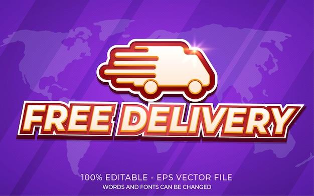 Efeito de texto editável, ilustrações de estilo de entrega gratuita