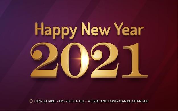 Efeito de texto editável, ilustrações de estilo feliz ano novo