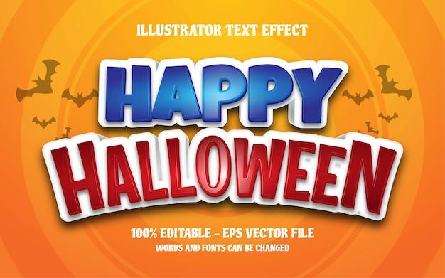 Efeito de texto editável, ilustrações de estilo feliz dia das bruxas