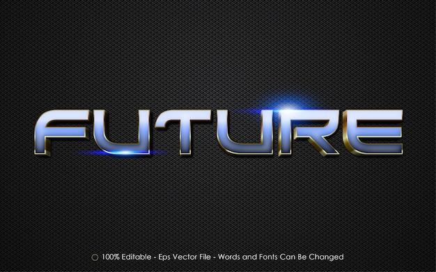 Efeito de texto editável, ilustrações de estilo futuro
