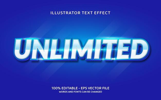Efeito de texto editável, ilustrações de estilo ilimitadas