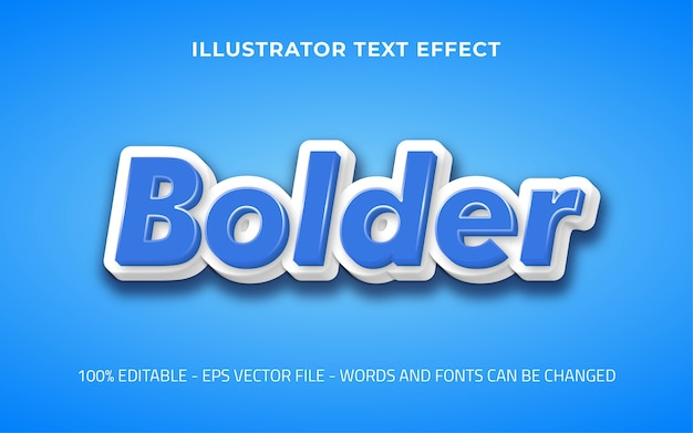 Efeito de texto editável, ilustrações de estilo mais ousado