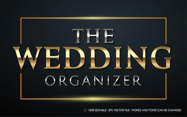 Efeito de texto editável, ilustrações de estilo the wedding