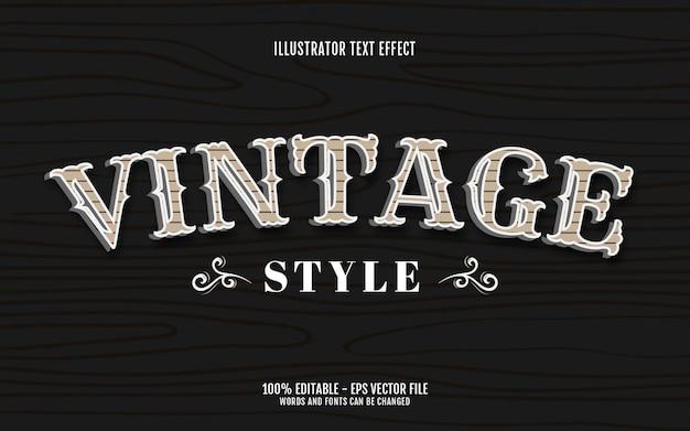 Efeito de texto editável, ilustrações de estilo vintage