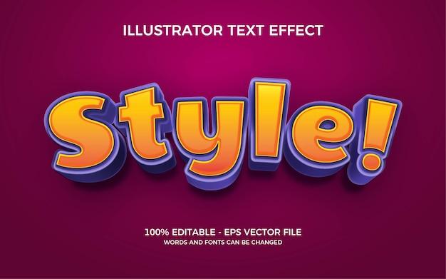 Efeito de texto editável, ilustrações de estilo
