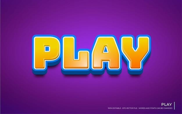 Efeito de texto editável, ilustrações do estilo play