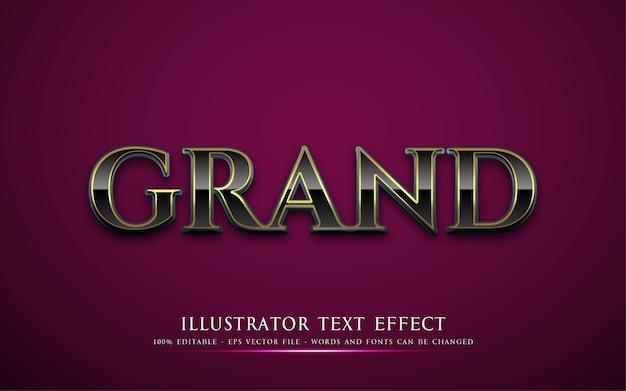 Efeito de texto editável ilustrações em grande estilo