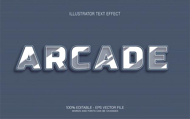 Efeito de texto editável, ilustrações estilo arcade