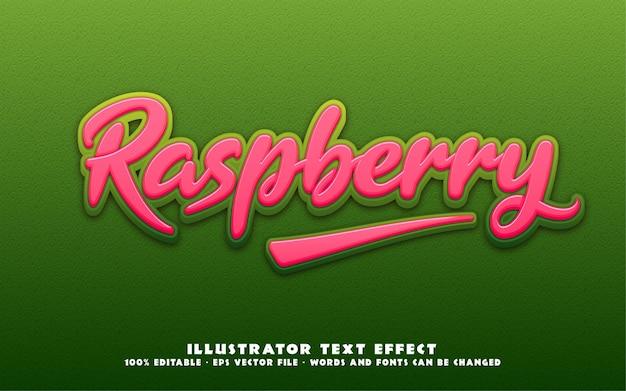 Efeito de texto editável, ilustrações estilo framboesa
