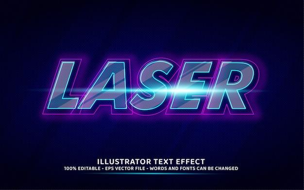 Efeito de texto editável, ilustrações estilo laser