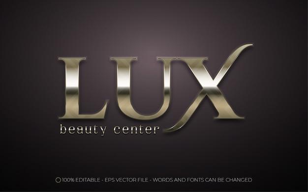 Efeito de texto editável, ilustrações estilo lux