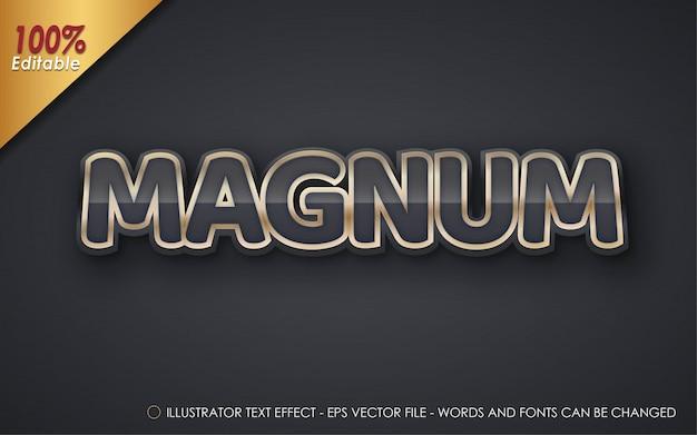 Efeito de texto editável, ilustrações estilo magnum