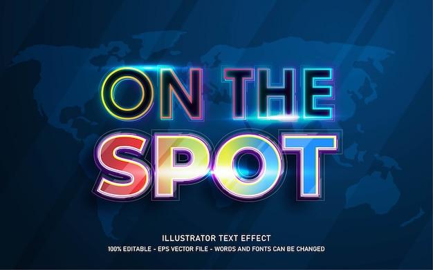Efeito de texto editável, ilustrações estilo spot