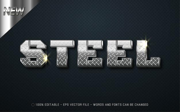 Efeito de texto editável, ilustrações estilo steel