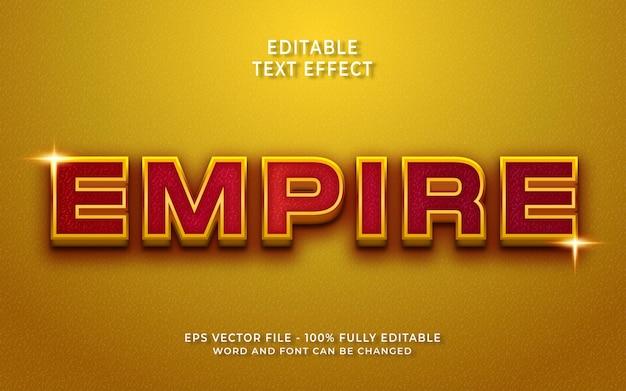 Efeito de texto editável império
