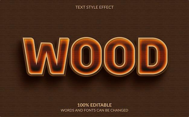 Efeito de texto editável isolado em marrom