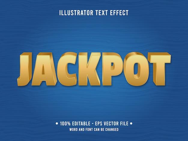 Efeito de texto editável jackpot gold