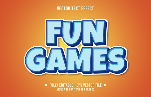 Efeito de texto editável jogos divertidos estilo moderno