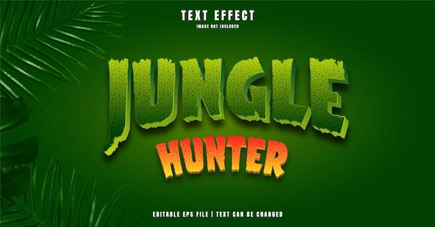 Efeito de texto editável jungle hunter 3d