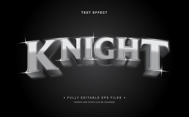 Efeito de texto editável knight