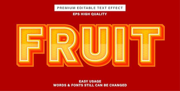 Efeito de texto editável - laranja fruta