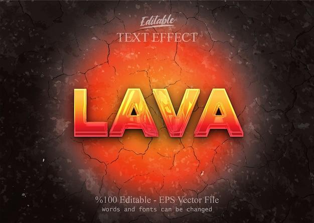 Efeito de texto editável lava