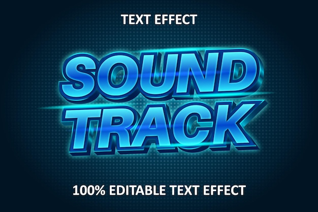 Efeito de texto editável luz azul