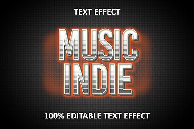 Efeito de texto editável luz de prata laranja