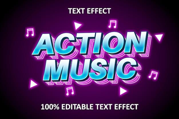 Efeito de texto editável luz rosa azul