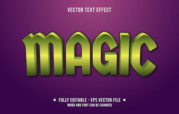 Efeito de texto editável mágico com estilo gradiente moderno