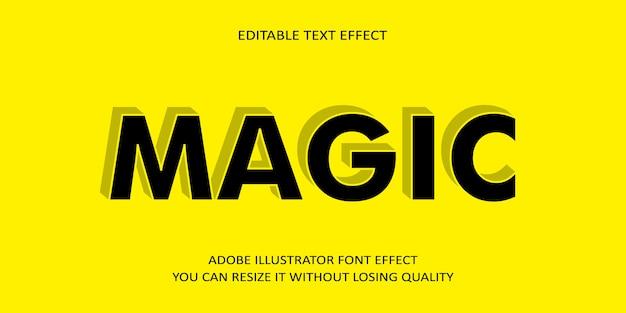Efeito de texto editável mágico