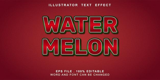 Efeito de texto editável melancia