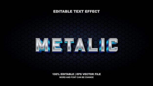 Efeito de texto editável metálico 3d moderno