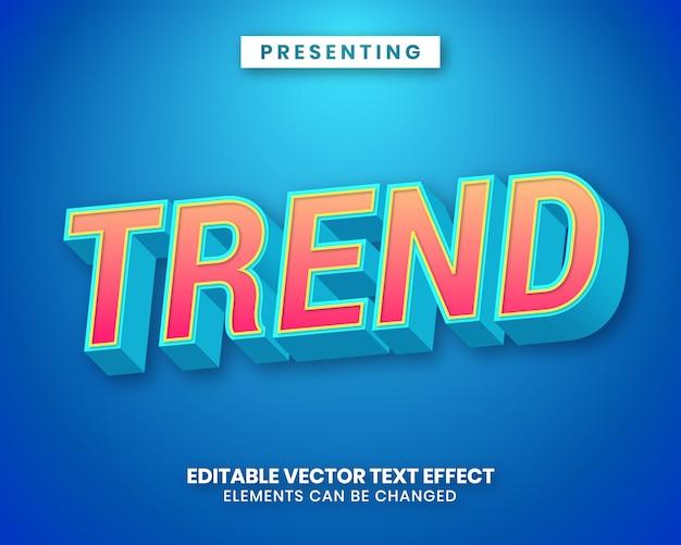 Efeito de texto editável moderno com gradiente de cores vibrantes