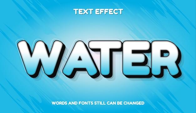 Efeito de texto editável moderno de água com gradiente de cor