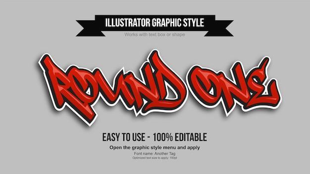 Efeito de texto editável moderno do graffiti vermelho