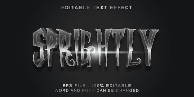 Efeito de texto editável moderno