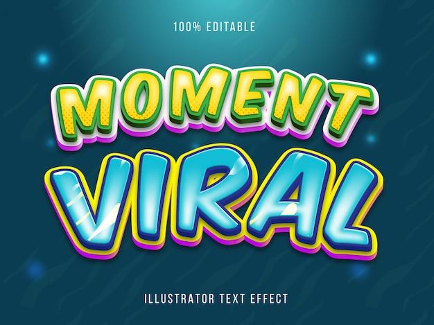 Efeito de texto editável - momento estilo do título do texto viral