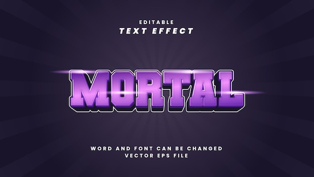 Efeito de texto editável mortal