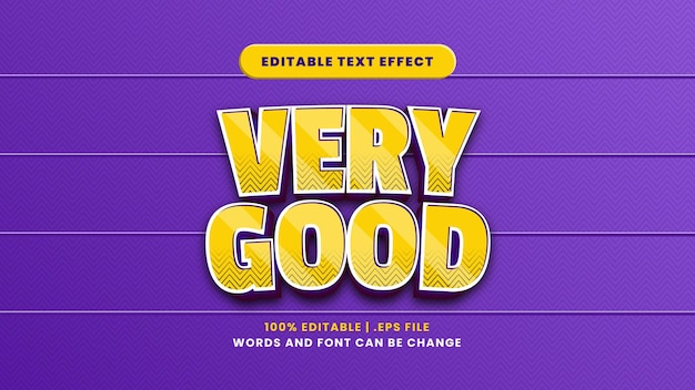 Efeito de texto editável muito bom em estilo 3d moderno